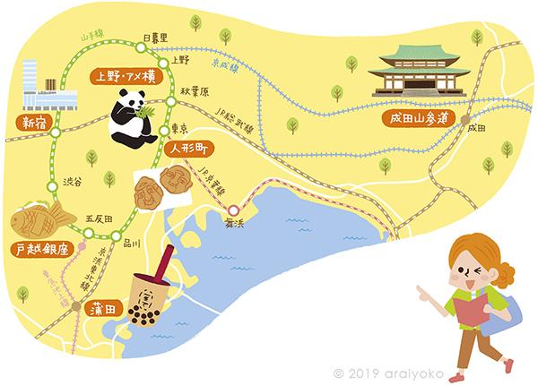 illustratedmap_tokyo_narita_kanagawa_shinjuku_panda