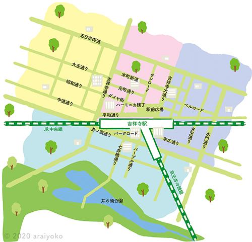 吉祥寺の地図